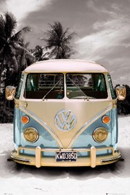 VW Bulli T1 Poster Metallic Maxi