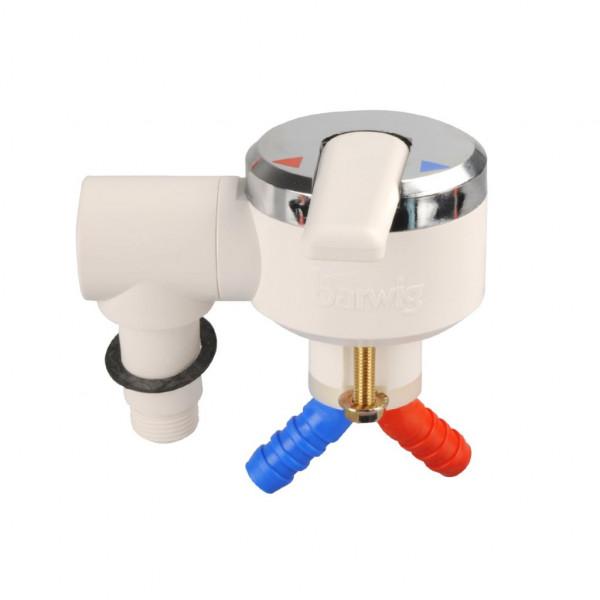 Einhebelmischer für Duschanschluss weiß/chrom