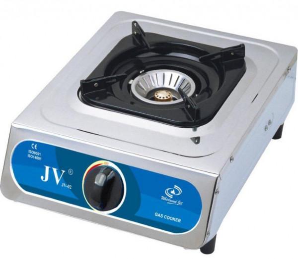 Edelstahlkocher Turbo 1-flammig