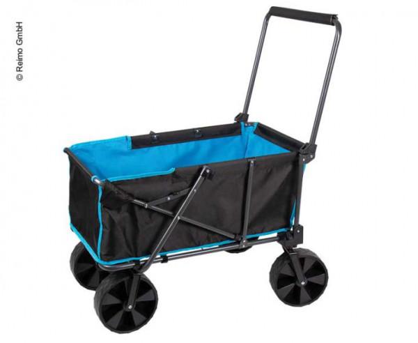 Transportwagen mit breiten abnehmbaren Reifen und Packtasche