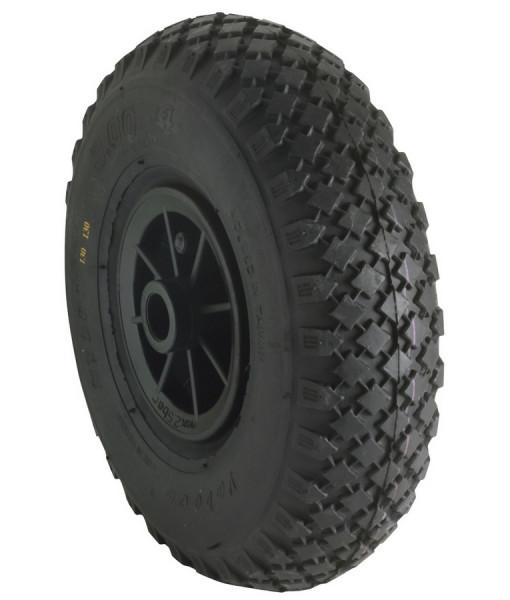 Laufrad 260 x 85 Luftreifen mit Kunststoff-Felge
