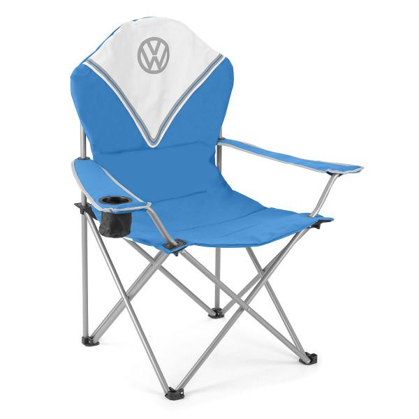 VW T1 Bulli faltbarer Campingstuhl Deluxe blau
