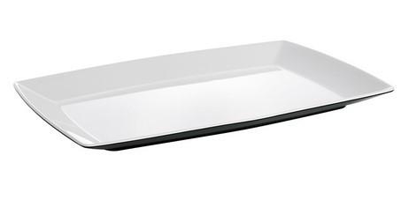 Platte Quadrato schwarz und weiß