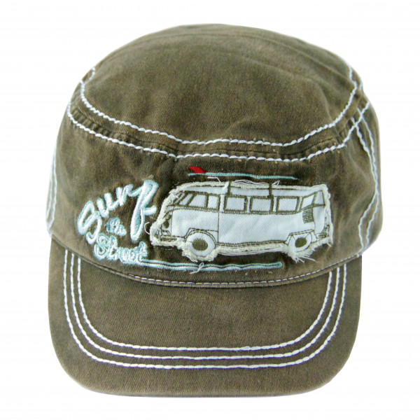 VW Bulli T1 Baseball Cap Military Surf oliv