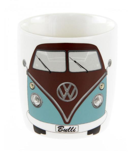 VW Bulli T1 Kaffeetasse 370 ml petrol/braun