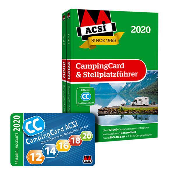 ACSI CampingCard & Stellplatzführer 2020