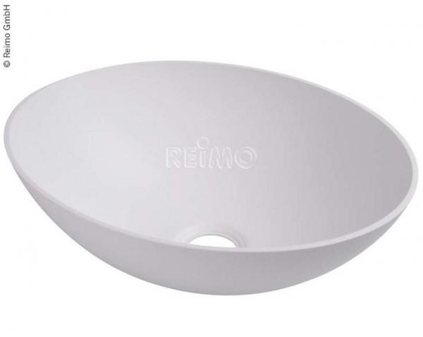 Design-Waschbecken oval weiß B350xT256xH135 mm