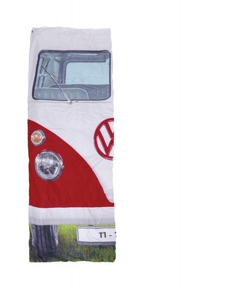 VW Bus T1 Einzelschlafsack 180 x 75cm rot