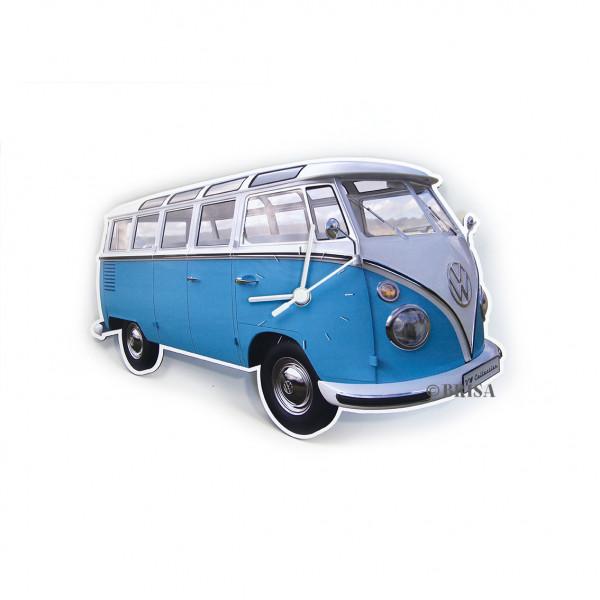 VW Bulli T1 Wanduhr Classic blau