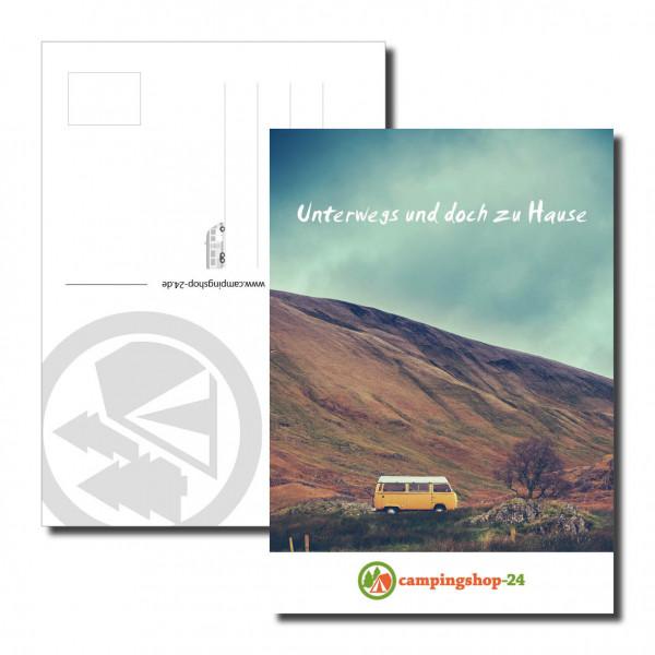 Camping Postkarte Unterwegs und doch zu Hause