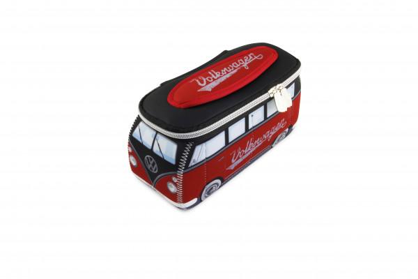 VW Bulli T1 3D Neopren Mäppchen rot schwarz