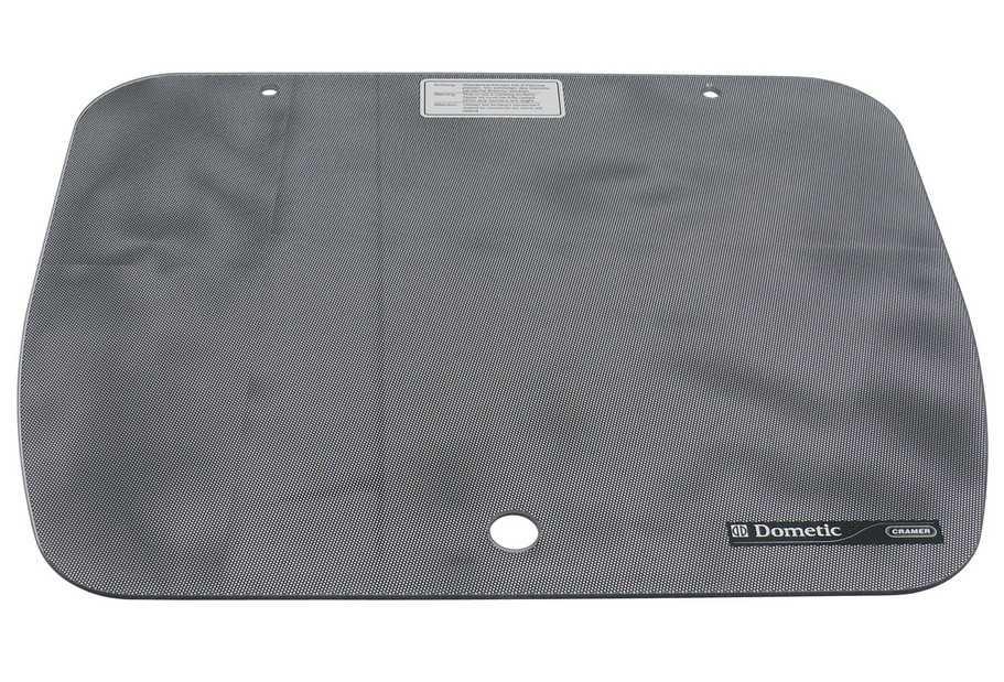 Glasabdeckung Punktmuster schwarz für CramerKocher und Spülen EK 2000 52 x 445 cm | 7332464339987
