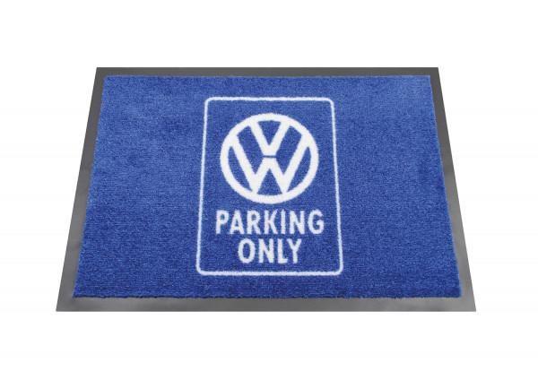 VW Fußmatte Parking Only blau