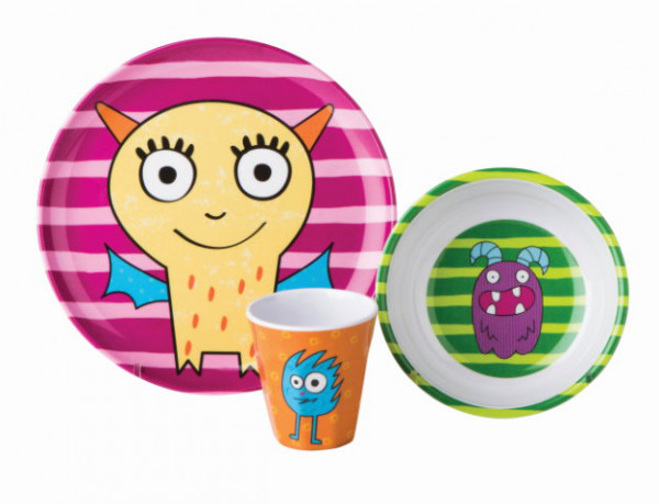 Gimex Kindergeschirr Set Monster