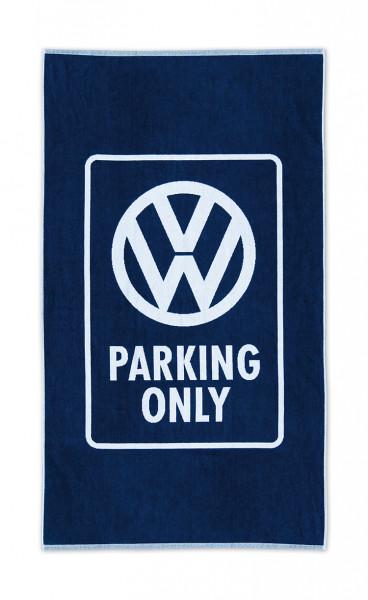 VW Bulli T1 Strandtuch Parking only blau