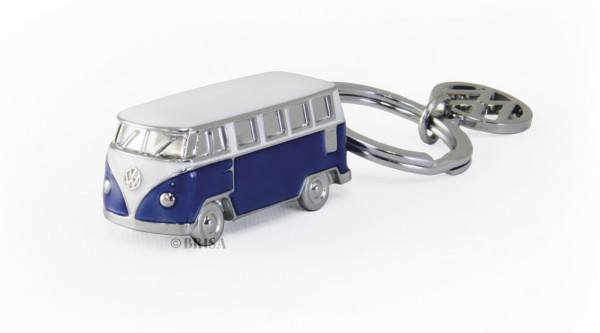 VW Bulli T1 3D Schlüsselanhänger blau