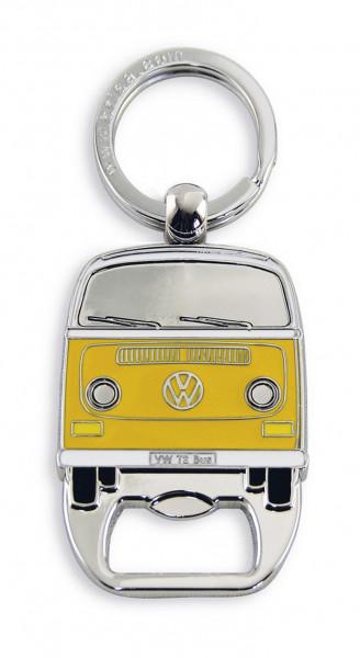 VW Bus T2 Schlüsselanhänger mit Flaschenöffner orange