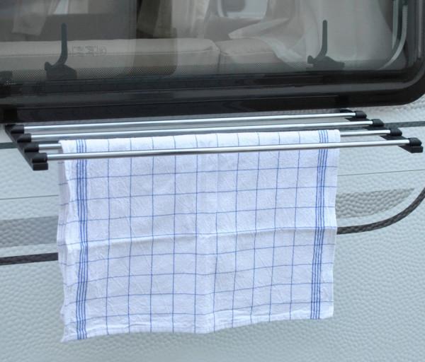 Wäschetrockner ausziehbar für Wohnwagenfenster