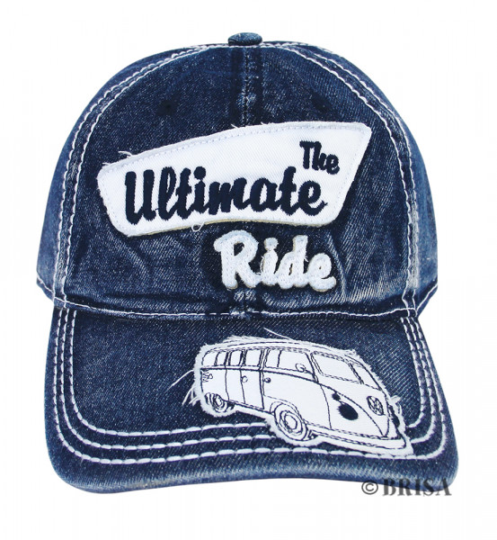 VW Bulli T1 Baseball Cap The Ultimate Ride blau