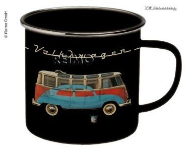 VW Collection Tasse Emaille VW Bulli Schwarz