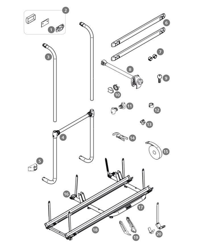 ersatzteil f r thule sport g2 2 doors tragrahmen. Black Bedroom Furniture Sets. Home Design Ideas