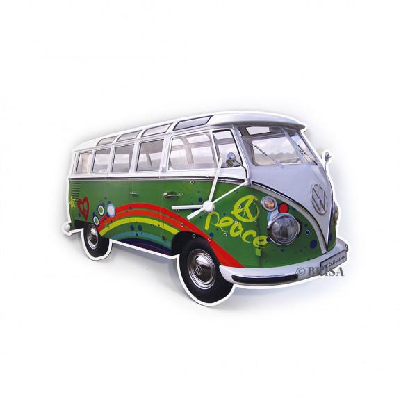 VW Bulli T1 Wanduhr Peace