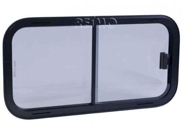 Sicherheitsglas Schiebefenster Rahmen schwarz 800x450 mm