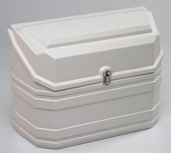Gaskasten Deichselkasten aus Kunststoff weiß