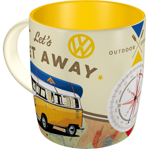 VW Bulli T1 Retro Tasse Let's Get Away