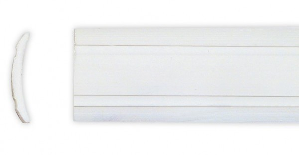 Leistenfüller uni 12 mm weiß