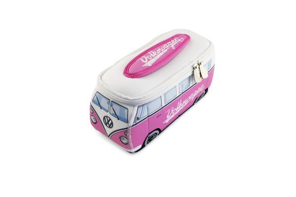 VW Bulli T1 3D Neopren Mäppchen pink