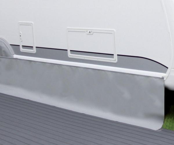 Bodenschürze Premium Höhe 50 cm hellgrau Länge 6 Meter