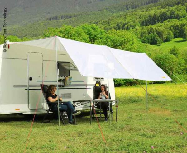 Wohnwagensonnensegel Como Plus Mesh 360x240 cm mit Sichtschutz