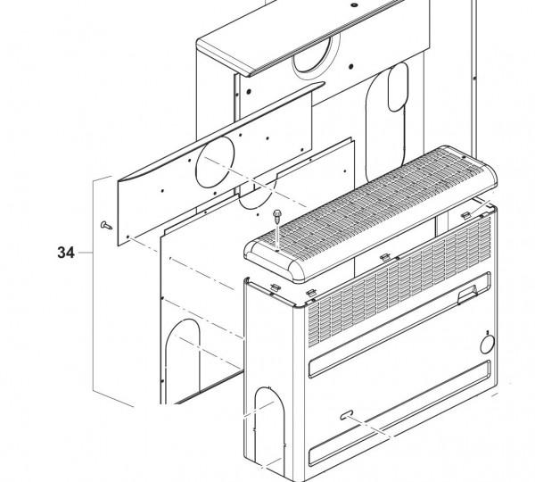 Rückwand mit Abgasanschluss links für Trumatic S 2200