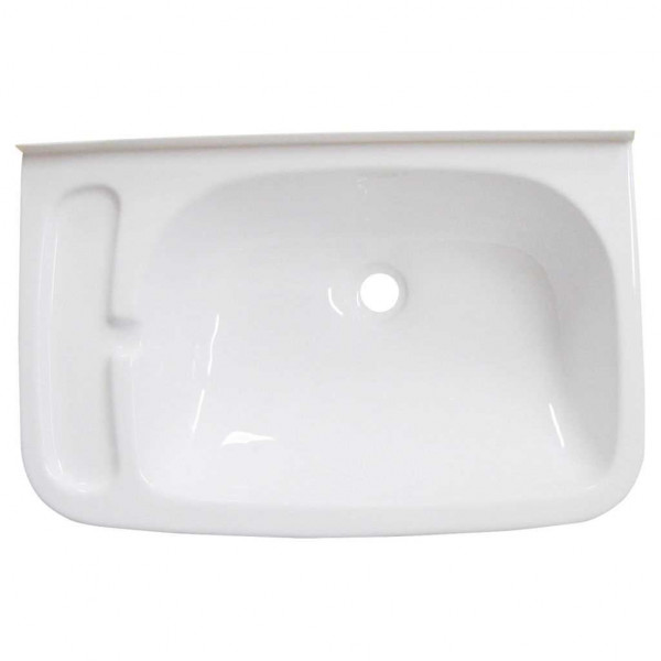 waschbecken mit seifenablage wei waschbecken sanit r. Black Bedroom Furniture Sets. Home Design Ideas