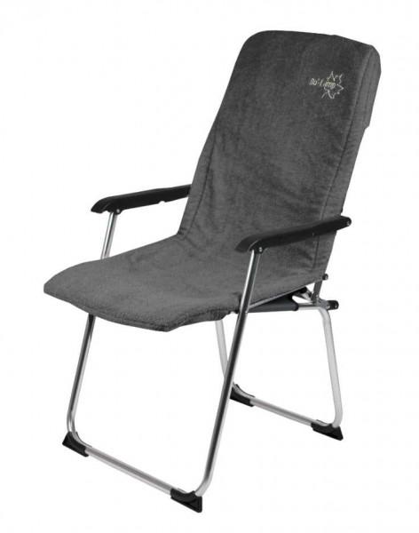 Frottee Sitzauflage für Campingstühle grau