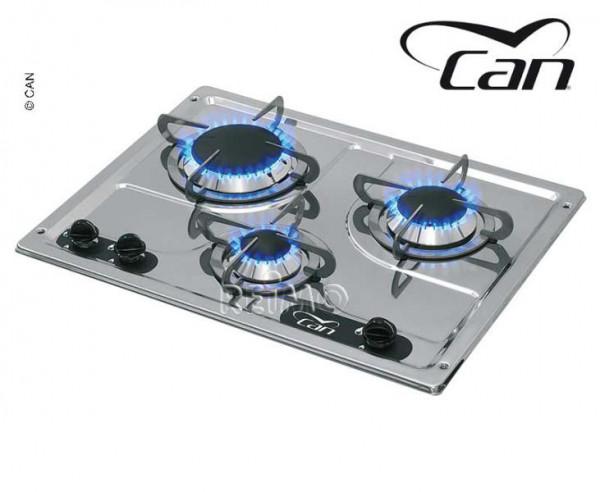 Can PC1323 Kocher 3-flammig Edelstahl 470x360 mm