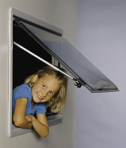 Ersatzscheiben für S3 - Fenster Grauglas 750 x 400 mm
