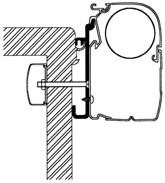 Adapter Rapido Serie 7, 8 für Thule Omnistor Markisen Serie 5