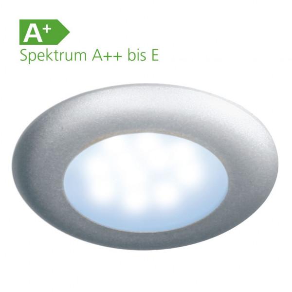LED Einbauspot Nova mattsilber mit Schalter 12 Volt