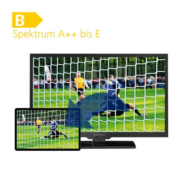 Alphatronics TFT-LED-Flachfernseh-DVD-Kombination SL-22DSB+-K 22 Zoll