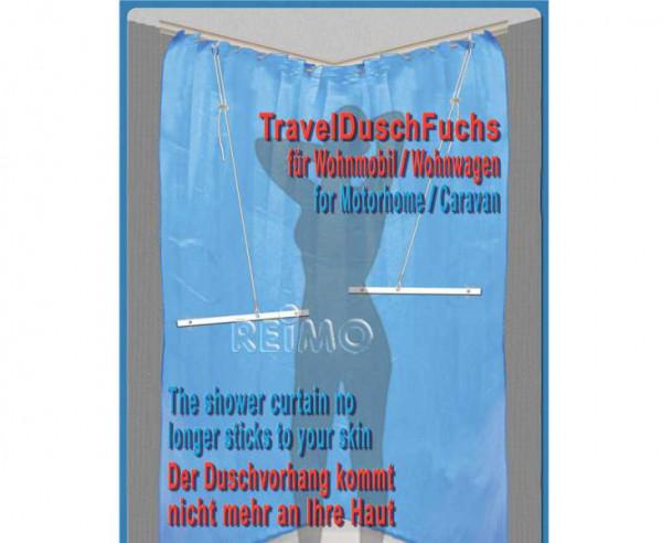 Duschvorhanghalter TravelDusch-Fuchs für Reisemobil oder Caravan