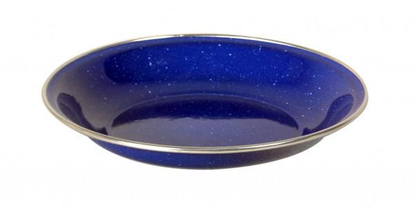 Emaille Teller tief, 20 cm, blau