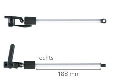Dometic Seitz Drehaussteller links 550/580 mm für S3 und S4 Ausstellfenster | 4041431073825