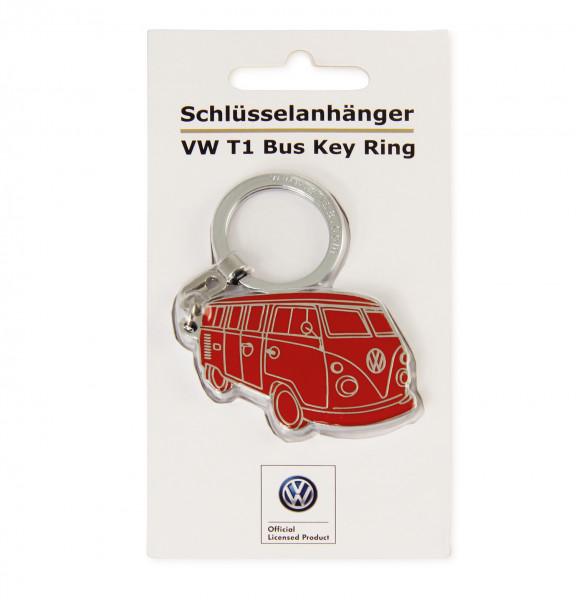 VW Collection Bulli Schlüsselanhänger Silhouette rot