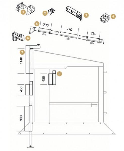Klemmprofil-Endstück für Thule Residence / Panorama