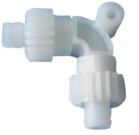 Bogen 90 Grad mit Schraubmuttern für Comet Wasserversorgungssystem X-Fix