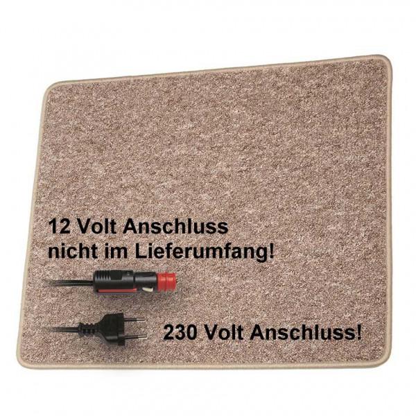 Pro Car Heizteppich 60 x 100 cm braun 230 Volt / 60 Watt