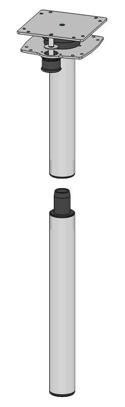 Ausdrehfuß M Höhe 755 mm für Tischplattenerweiterung   4041431113538