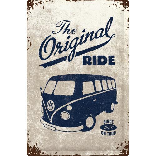 Blechschild VW Bulli The Ride 40 x 60 cm